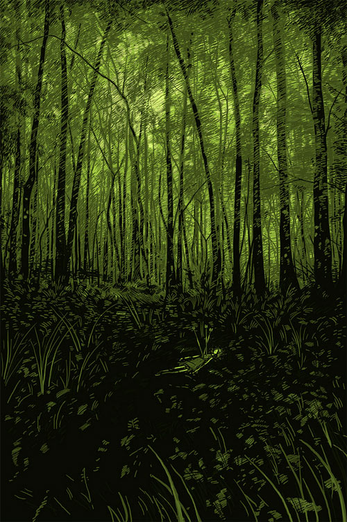Forest illustration, by Daniel Danger