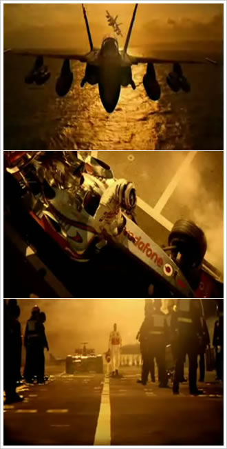 johnnie walker team with fernando alonso. Screenshots of the spot
