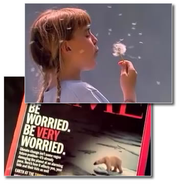 two 60-second television spots focusing on the alleged global warming crisis and the calls by some environmental groups and politicians for reduced energy use. The ads are airing in 14 U.S. cities from May 18 to May 28, 2006.