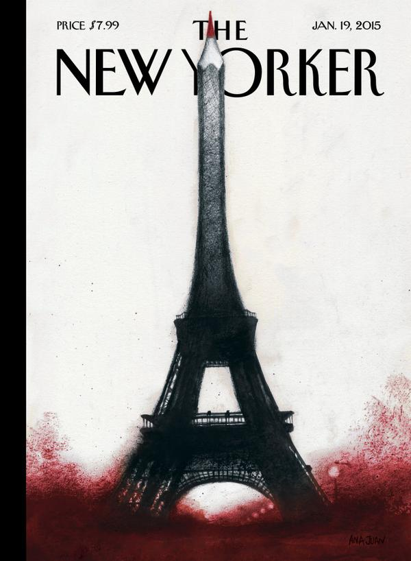 Portada de The New Yorker,  about Charlie Hebdo attack